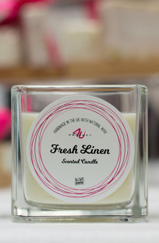 Perfect4U Handmade Fresh Linen Scented Candle