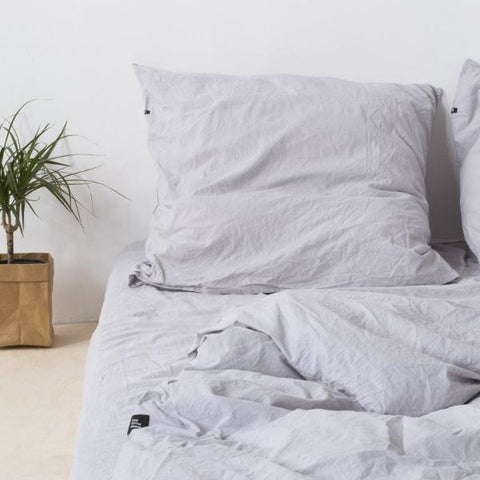 Light Grey Pure Cotton Flat Bed Sheet by HOP Design on OOSTOR.com