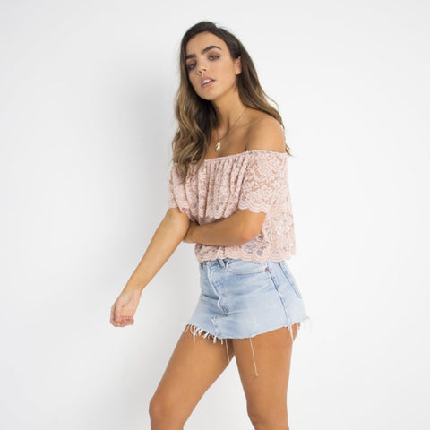 Peach Crop Top by Wired Angel Ltd on OOSTOR.com