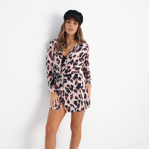 Leopard Print Wrap Style Dress by Wired Angel Ltd on OOSTOR.com