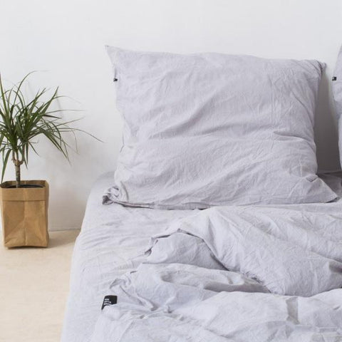 Set of 2 Light Grey Pure Cotton Pillow Cases by HOP Design on OOSTOR.com