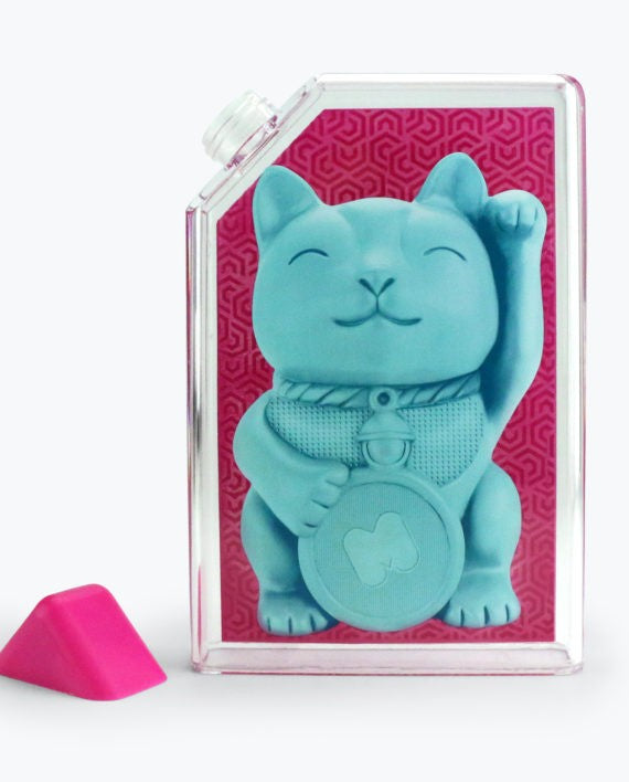 Lucky Cat Water Bottle by Mustard Gifts on OOSTOR.com