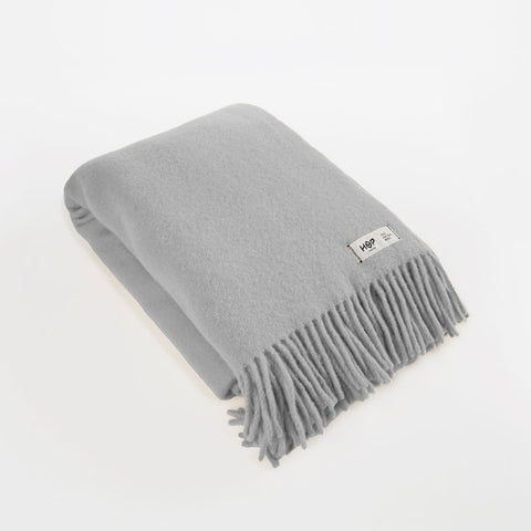 Light Grey YETI - Pure Wool Blanket by HOP Design on OOSTOR.com
