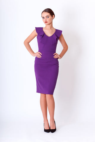 Azaria dress in violet
