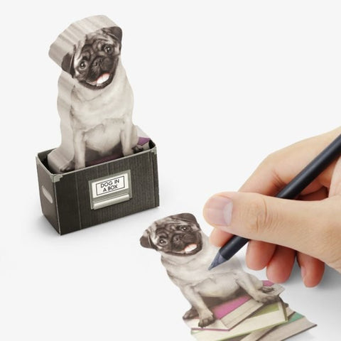 Dog In A Box Sticky Notes by Mustard Gifts on OOSTOR.com