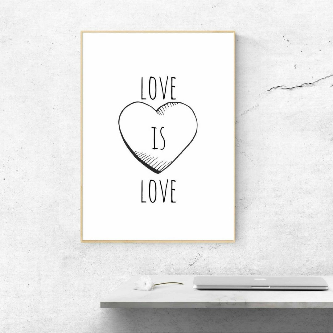 Love is Love Print by Proper Job Studio on OOSTOR.com