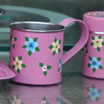 Dusty Pink Enamelware Mug by Jasmine White on OOSTOR.com