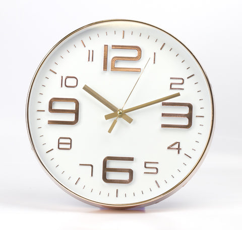 White Embossed Rouan Copper Clock by Sole Favors on OOSTOR.com