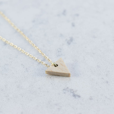 Triangle shaped necklace by Debosc on OOSTOR.com