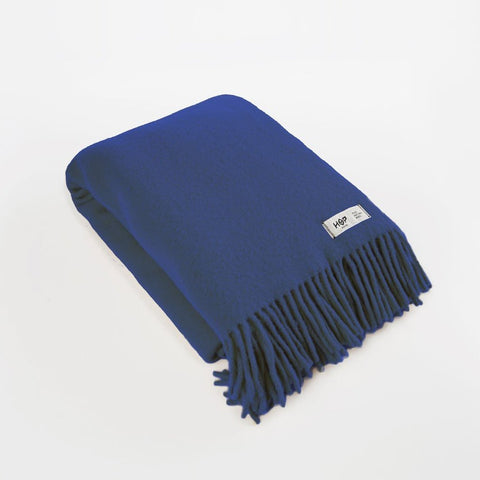 Cobalt Blue YETI - Pure Wool Blanket by HOP Design on OOSTOR.com