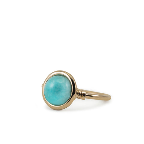 Satellites Amazonite Rose Gold Ring by Vintouch Jewels on OOSTOR.com