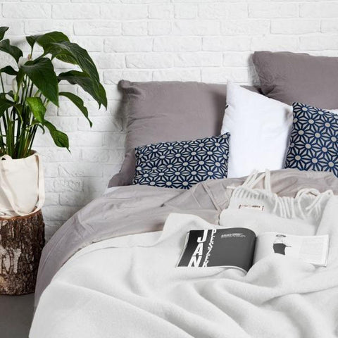 Pearl White YETI - Pure Wool Blanket by HOP Design on OOSTOR.com
