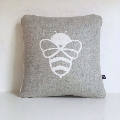 Grey Bessie Bumblebee Cushion by Burch and Brown on OOSTOR.com