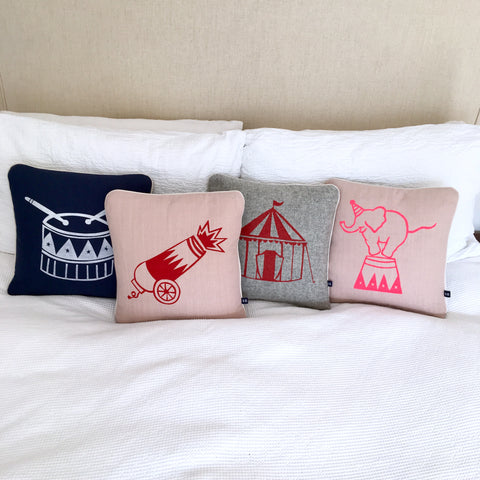 Balancing Circus Elephant Cushion by Burch and Brown on OOSTOR.com