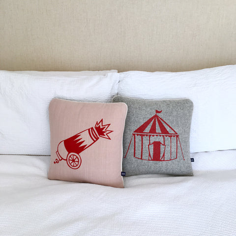 Circus Tent Cushion by Burch and Brown on OOSTOR.com