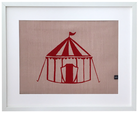 Circus Tent Framed Fabric Print