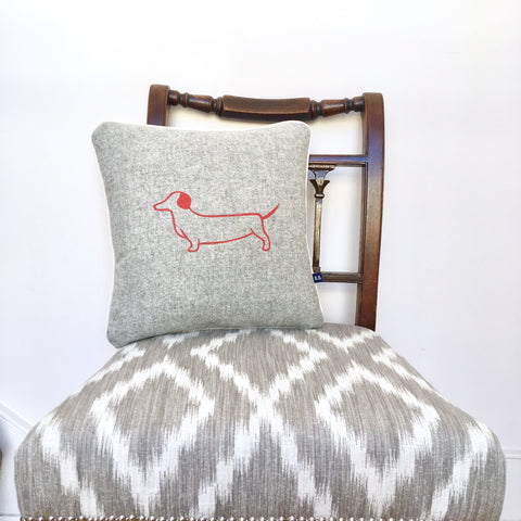 Dotty Dachshund Cushion by Burch and Brown on OOSTOR.com
