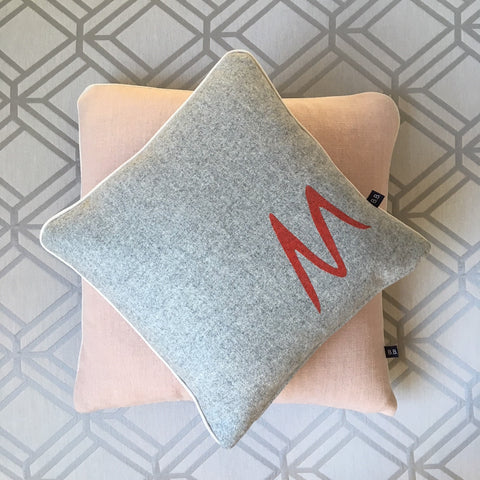 Personalised Grey Initial Cushion