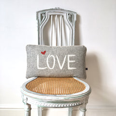 Grey Love Cushion by Burch and Brown on OOSTOR.com