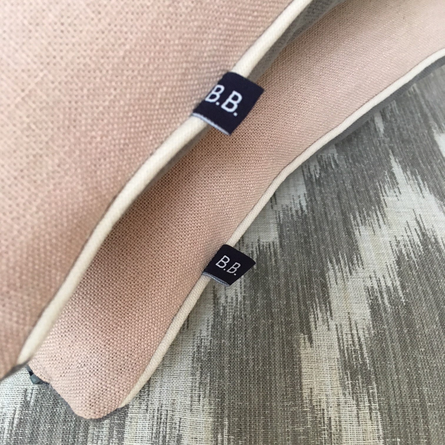 Personalised Dusky Pink Initial Cushion