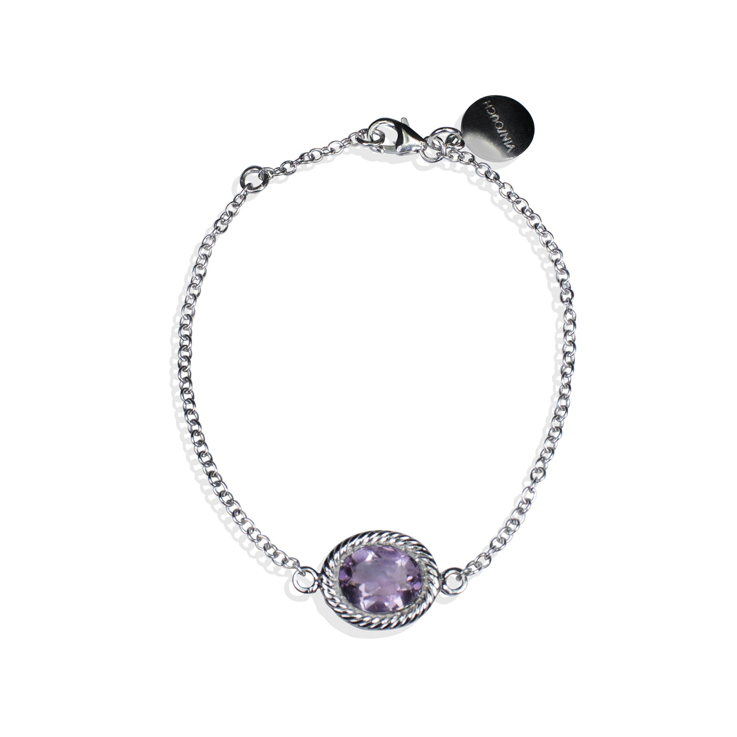 Luccichio Amethyst Silver Bracelet by Vintouch Jewels on OOSTOR.com