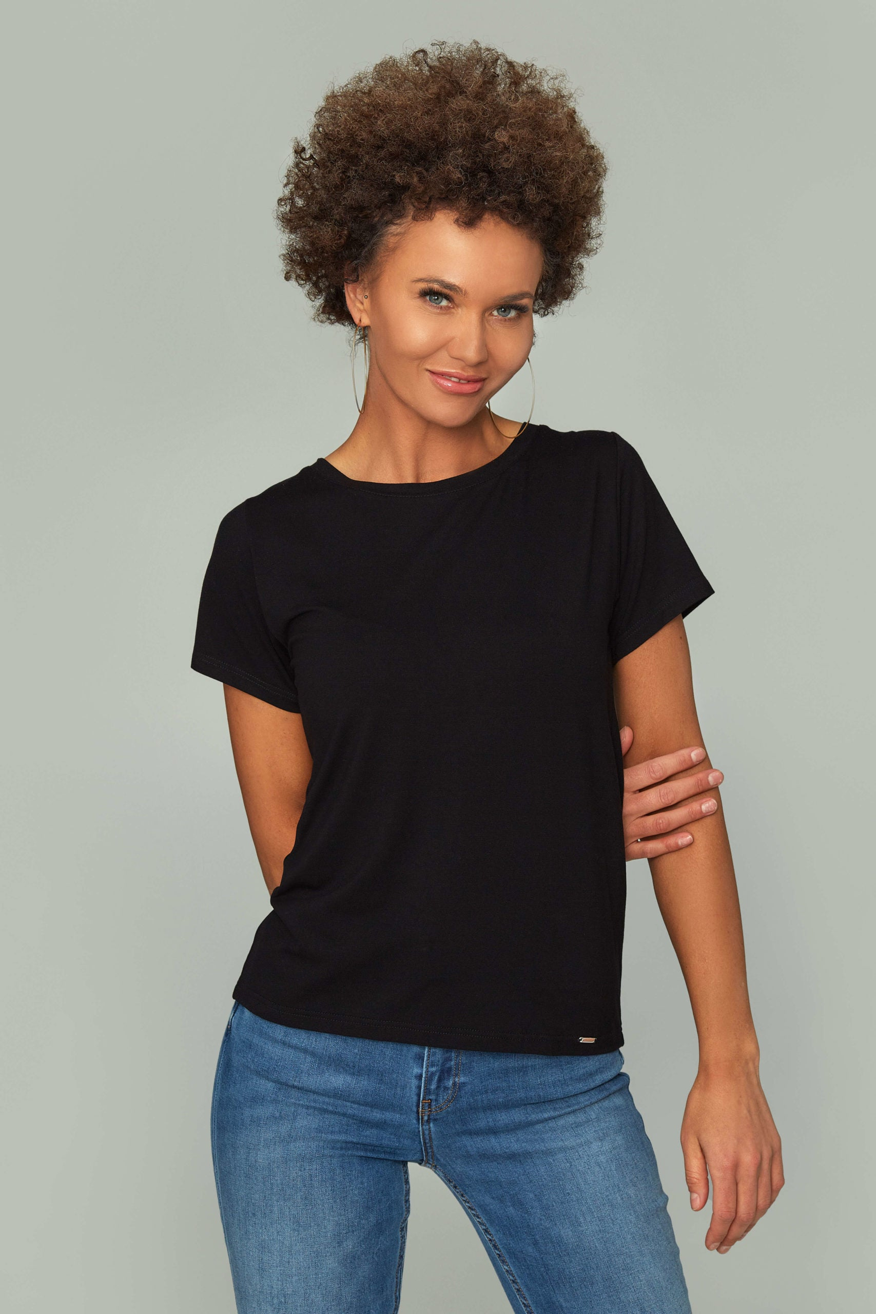 Women's Black Basic T-shirt