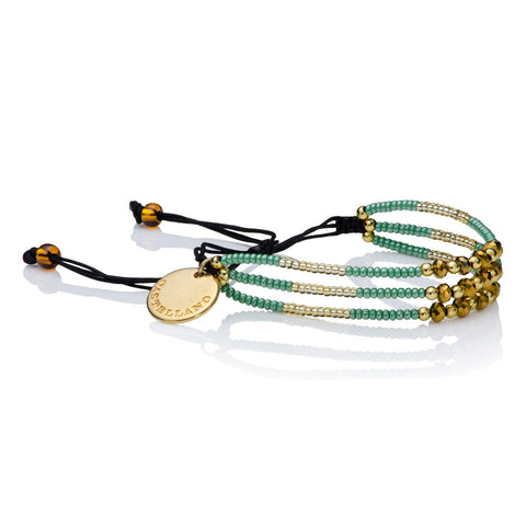 Love Yourself - Beads Bracelet (Beige/Gold)