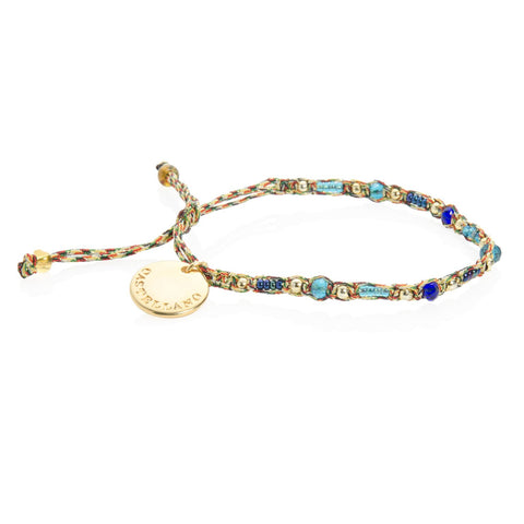 Social Impact - Friendship Bracelet (Gold/Blue)