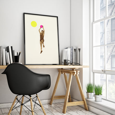 Basketball Art Print by Cassia Beck on OOSTOR.com