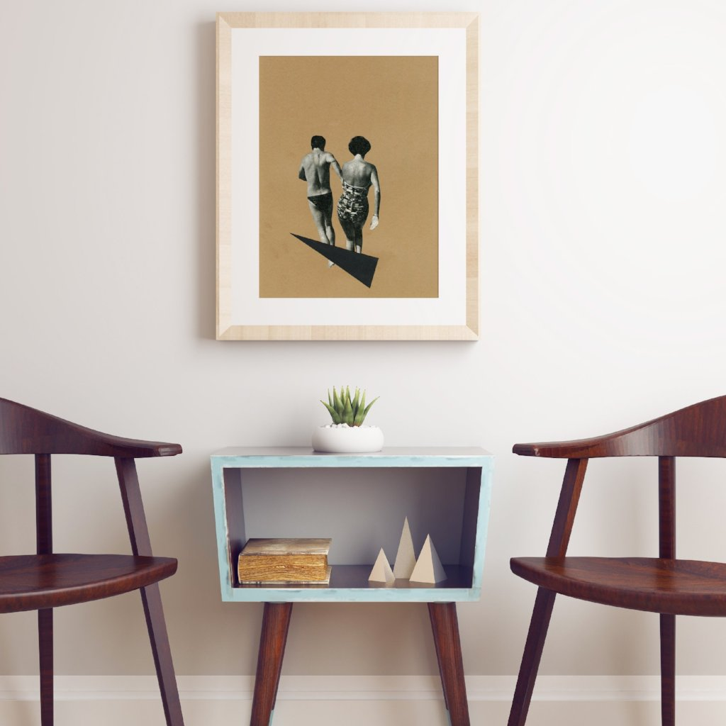 Beach Romance Art Print by Cassia Beck on OOSTOR.com