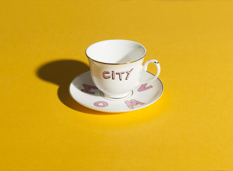 White Bella Freud Suffragette City Tea Cup and Saucer