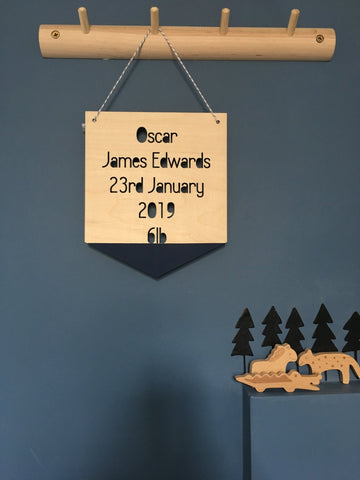 Birth Plaque Wall Hanging