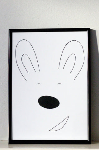Bunny Wall Art by Roscoe Rules on OOSTOR.com