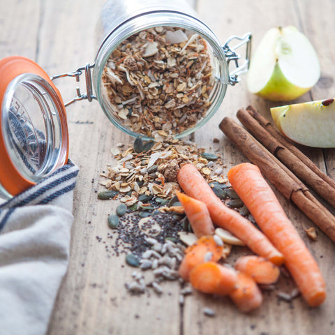 Raw Carrot, Apple & Cinnamon Muesli