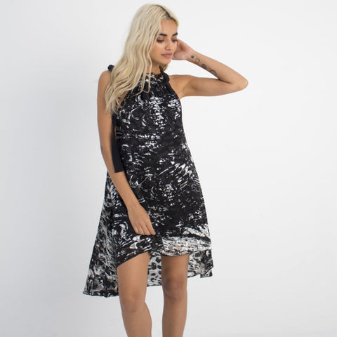 Black & White Swing Dress by Wired Angel Ltd on OOSTOR.com