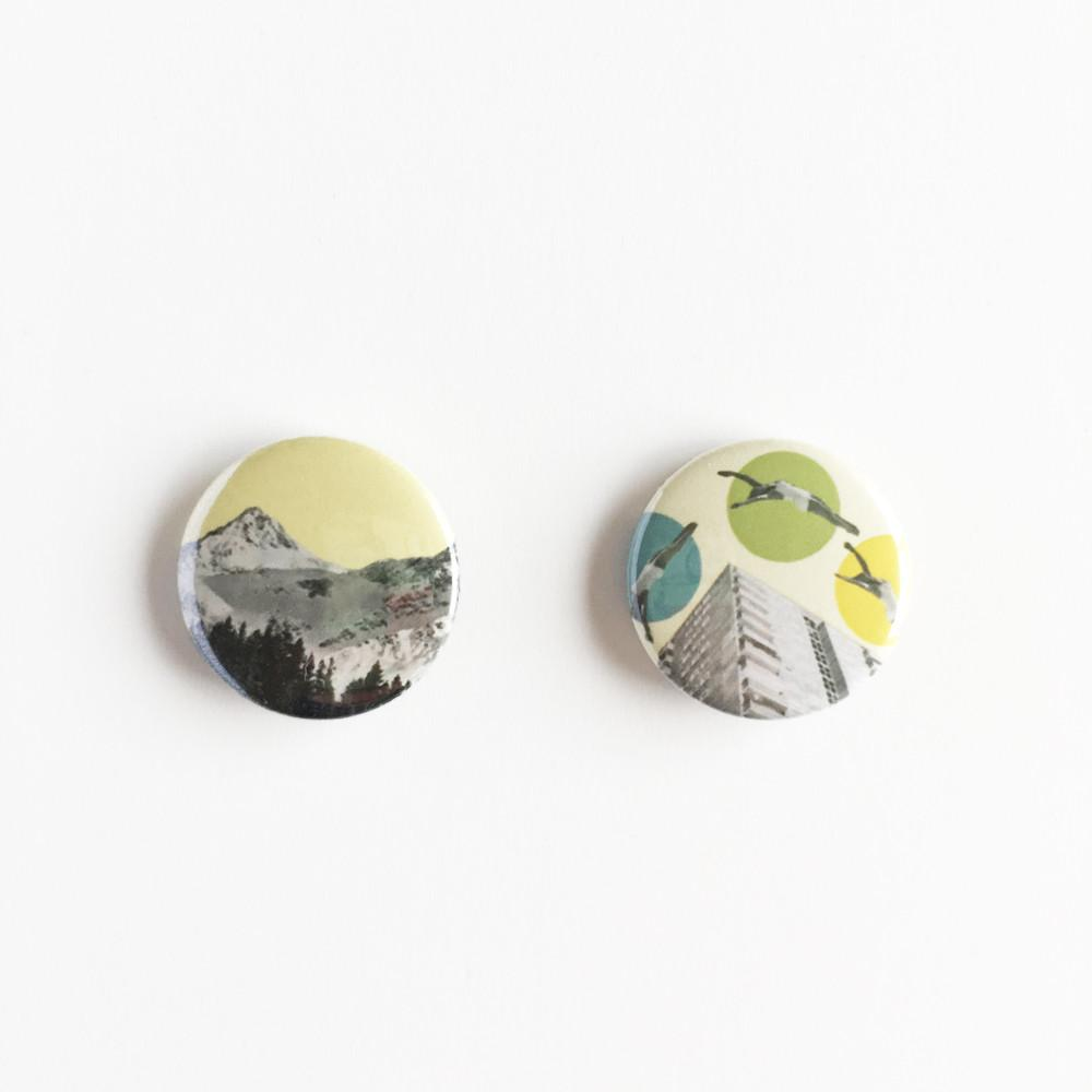Badge Set - Country vs City by Cassia Beck on OOSTOR.com