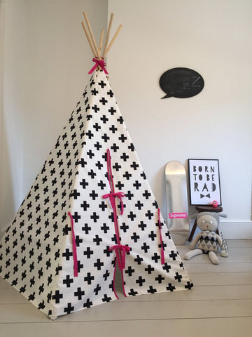 CROSS TEEPEE PINK TRIM by Wildfire Teepees on OOSTOR.com