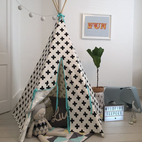 CROSS TEEPEE SEAFOAM TRIM by Wildfire Teepees on OOSTOR.com