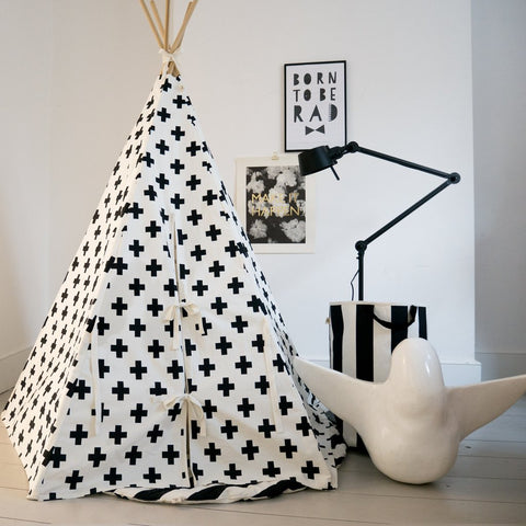 CROSS TEEPEE WHITE TRIM by Wildfire Teepees on OOSTOR.com
