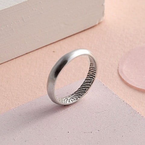 Secret Fingerprint Domed Rings by Oliver Twist Designs