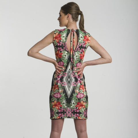 Deco Floral Body-con dress by CoCo VeVe on OOSTOR.com