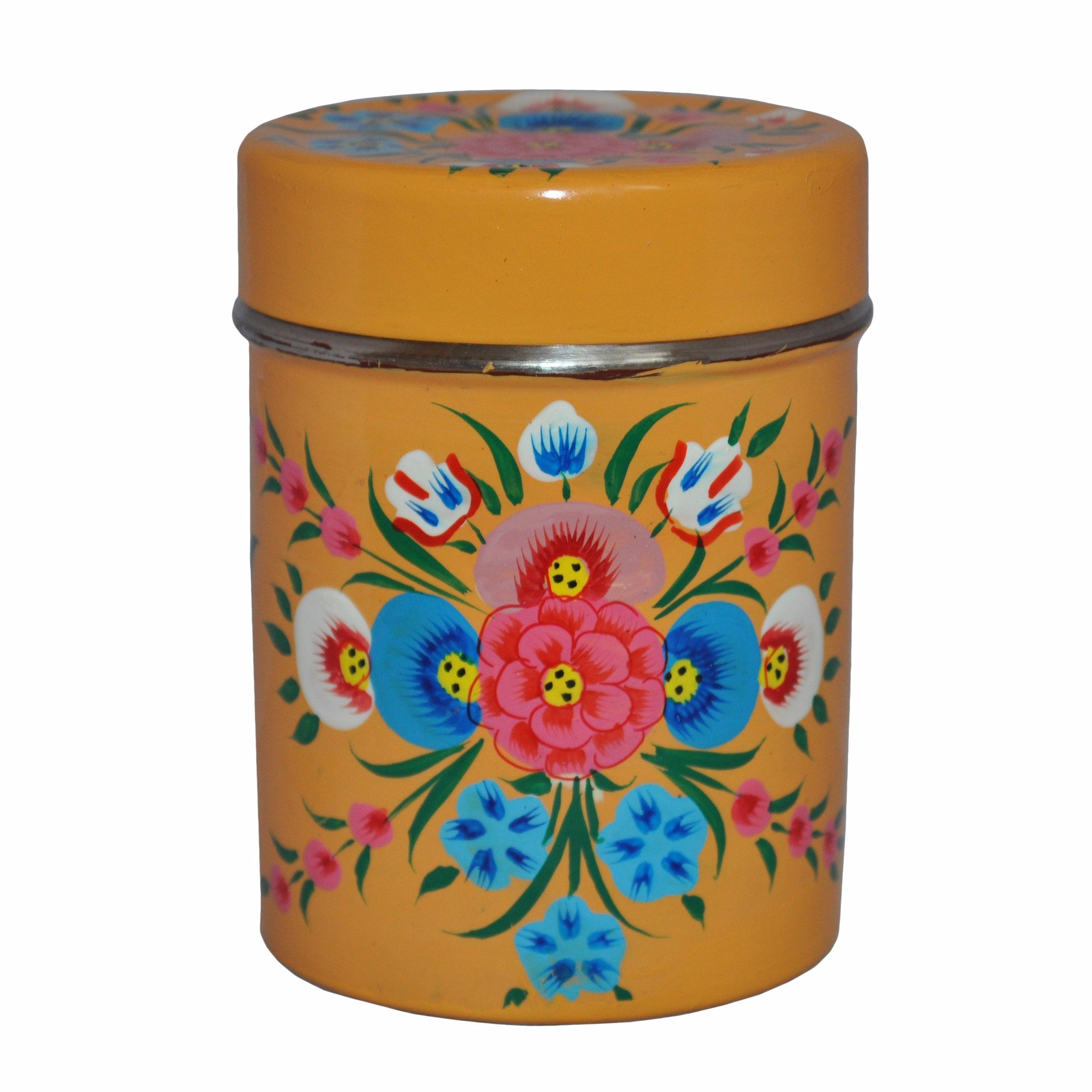 Mustard Yellow Tea Caddy by Jasmine White on OOSTOR.com