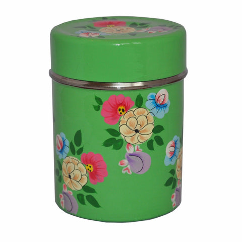 Bright Green Tea Caddy by Jasmine White on OOSTOR.com