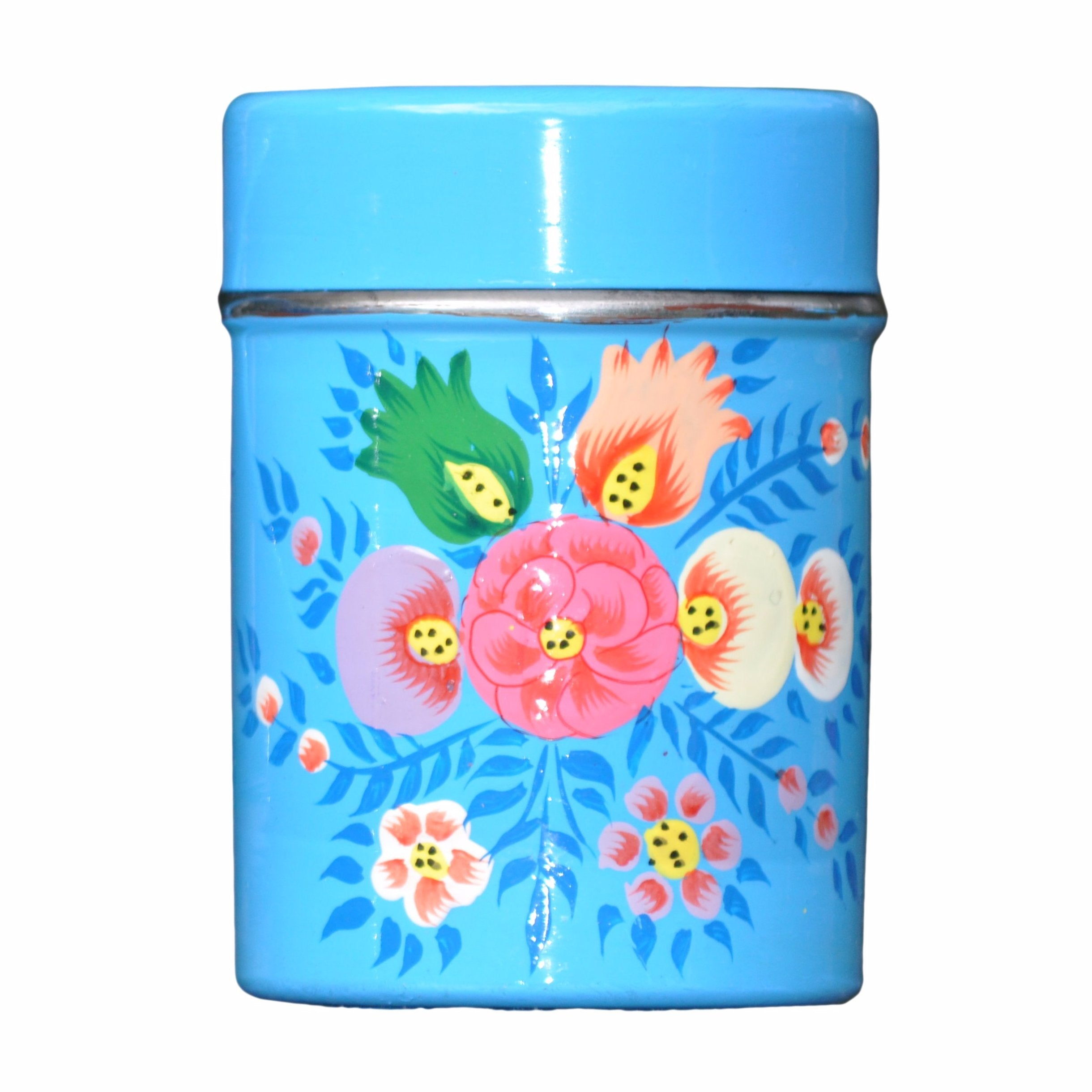 Bright Blue Tea Caddy by Jasmine White on OOSTOR.com