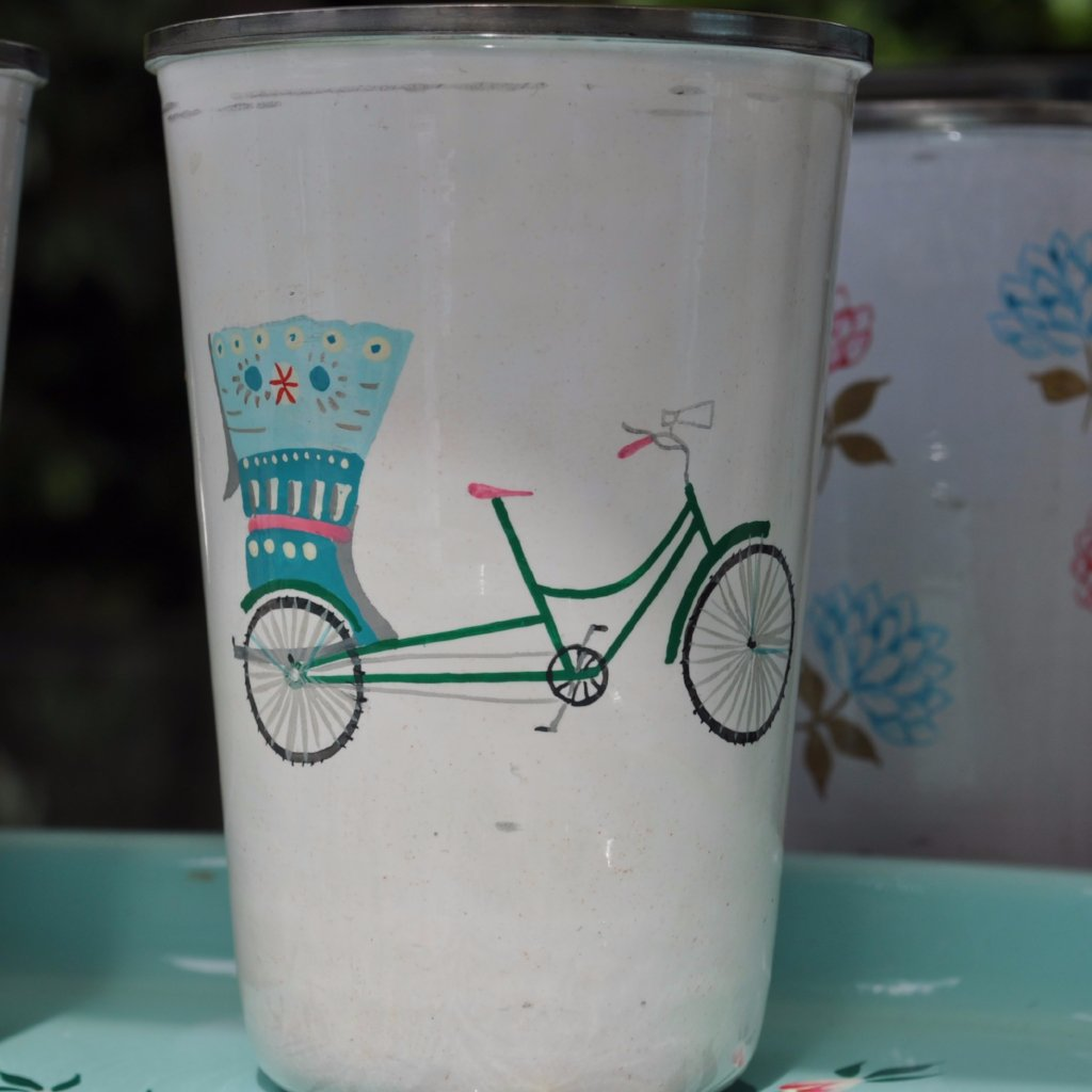 Blue Rikshaw Tumbler by Jasmine White on OOSTOR.com