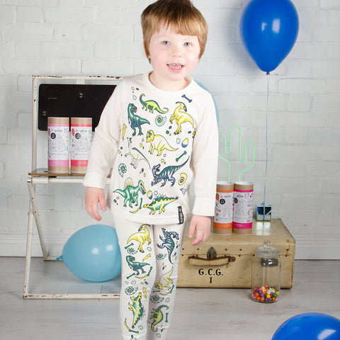 Dinosaur Colour In Pyjamas With Fabric Pens by Selfie Clothing Co on OOSTOR.com