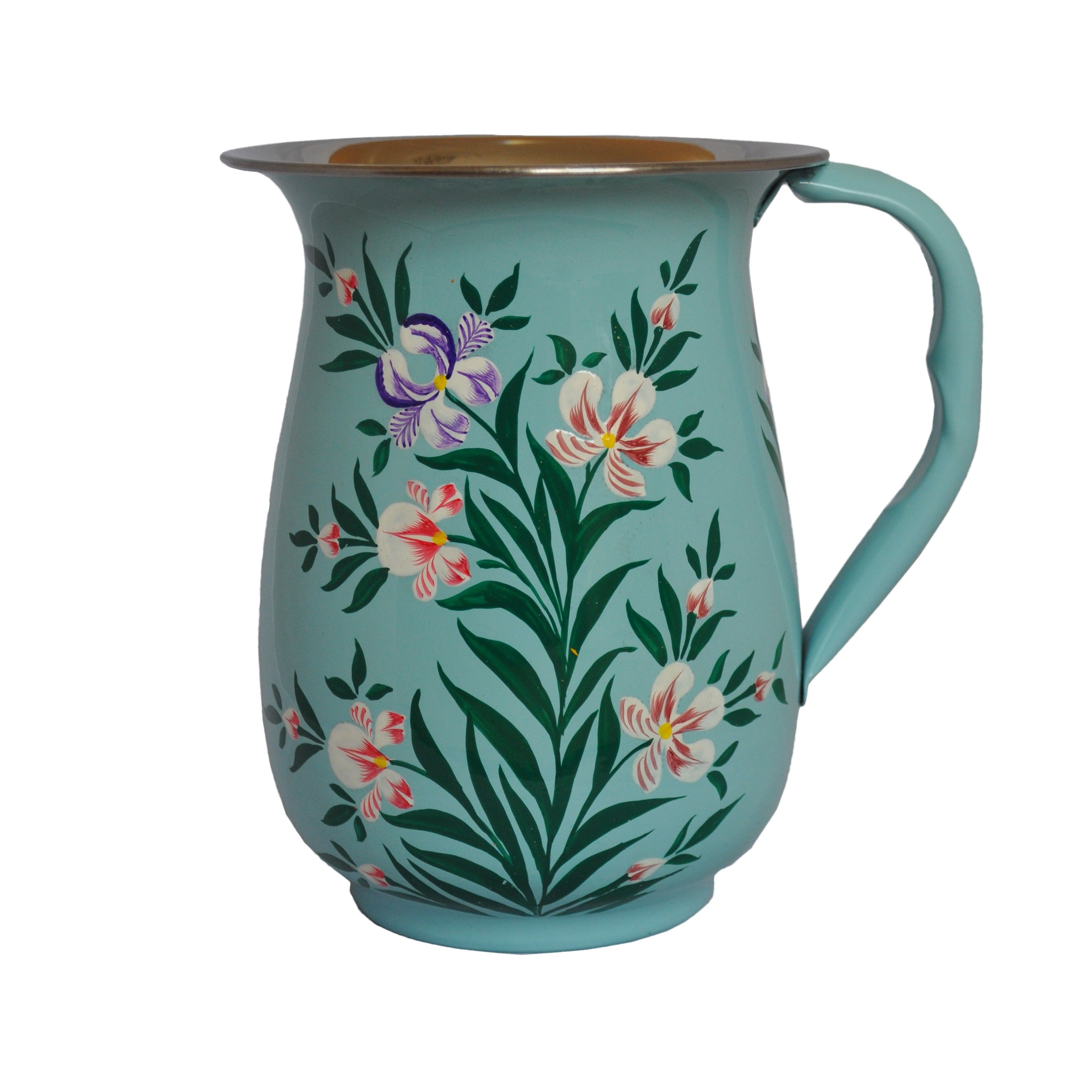 Hand Painted Enamel Jug by Jasmine White on OOSTOR.com