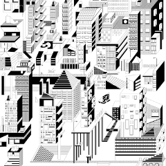 Colouring Poster Downtown by Fundamental Berlin on OOSTOR.com