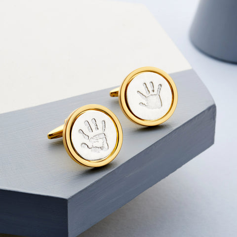 Gold Edition Handprint Cufflinks by Oliver Twist Designs