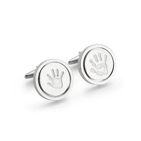 Silver Edition Handprint Cufflinks by Oliver Twist Designs